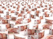 Scattered Russian Ruble Royalty Free Stock Photo