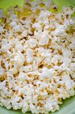 Scattered salted popcorn. Texture background Royalty Free Stock Photo