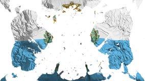 Scattered San Marino flag. White background, 3d rendering royalty free illustration