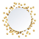 Scattered sequins glowing backgound. Royalty Free Stock Photos
