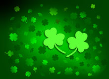 Scattered Shamrocks Stock Image