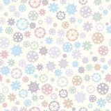 Scattered sprocket-wheels, gear silhouettes seamless pattern, pastel colors. Children`s design. Seamless pattern silhouette cut g Royalty Free Stock Photography
