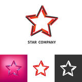 Scattered Star Logo Set. Colored, Black And White, Gradient Logo Royalty Free Stock Photography