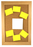 Scattered Sticky Notes Stock Images
