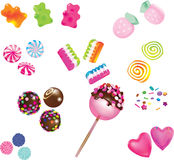Scattered sweet candies Royalty Free Stock Image