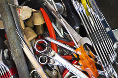 Scattered tools Stock Photography