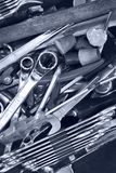 Scattered tools Royalty Free Stock Images
