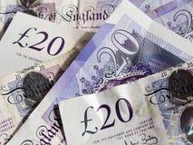 Free Scattered Twenty Pound Notes Stock Image - 47220561