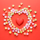 Scattered Valentines Hearts Stock Image