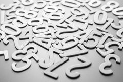 Scattered Wood Numbers Royalty Free Stock Image