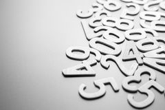 Scattered Wood Numbers Stock Image