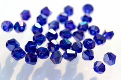 A scattering of beads. Beads in the form of a diamond Stock Photography