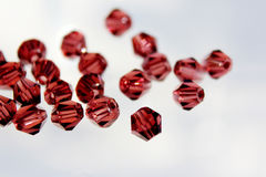 A scattering of beads. Beads in the form of a diamond Royalty Free Stock Photos