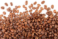 Scattering of coffee beans Stock Photos