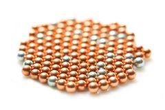 Scattering colored pearls Royalty Free Stock Photography