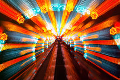 The scattering colorful beam Stock Photo