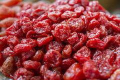 Scattering of dried cherries. A scattering of dried cherries Royalty Free Stock Photography