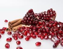 Scattering of garnet grains Royalty Free Stock Image