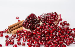 Scattering of large garnet grains Stock Photography