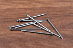 Scattering nails Stock Photo
