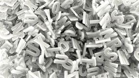 Scattering white color 3d text Stock Photos