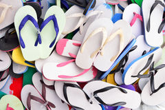 Scattering sandals Royalty Free Stock Image