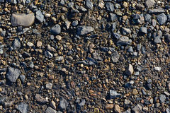Scattering of small stones. On the ground Stock Image