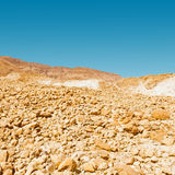 Scattering of Stones. Of the Negev Desert in Israel Royalty Free Stock Photography