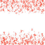 Scatterred Alphabet Background Royalty Free Stock Photos