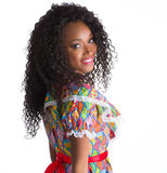 Scatto brasiliano vestito ragazza fotografie stock