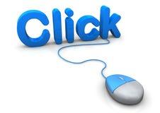 Scatto di mouse Fotografia Stock