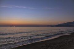 Scauri海滩-南意大利 免版税库存图片