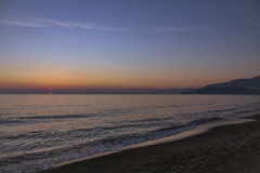 Scauri beach - South Italy Royalty Free Stock Images