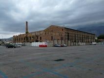 Scauri - gammal fabrik Royaltyfria Bilder
