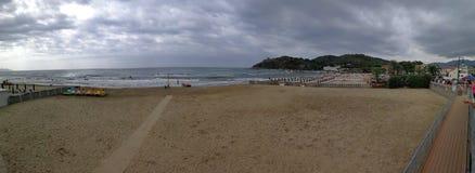 Scauri - panoramica della spiaggia Fotografia Stock