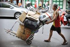 Scavenger on a Bangkok Street Stock Image