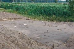 Scavi archeologici degli stabilimenti sette mila anni fa Fotografia Stock Libera da Diritti