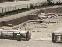Scavi archeologici su Cesareia Fotografia Stock Libera da Diritti