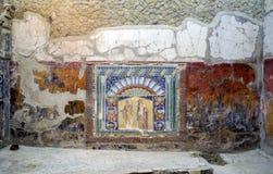 Scavi de Herculaneum, ruínas antigas perto de Nápoles fotos de stock