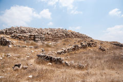 Scavi di archeologia in Israele Immagine Stock