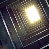 Scavi una galleria per illuminarsi Immagini Stock