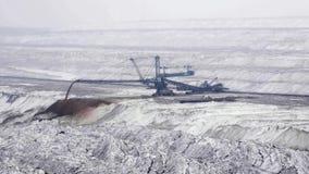 Scavo della miniera di carbone video d archivio