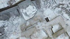 Scavo di vecchio tempio ortodosso video d archivio