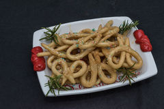 Scavuratielli, Christmas sweets of italian tradition. Cilento fo. Od. Fried donuts covered in honey Stock Photo