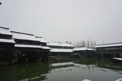 A sccenery of Wu zhen ancient town in winter,China royalty free stock photo