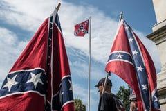 SCConfederateFlagRally Photographie stock libre de droits