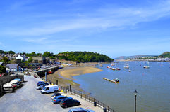 Sceanic Conwy harbour in North Wales Royalty Free Stock Photos