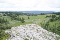 Sceanic przegląd Libby mieszkania w Śnieżnych pasmo górach, Wyoming obraz royalty free