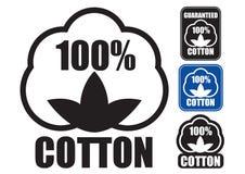Sceau 100% de coton Photos libres de droits