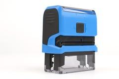 Sceau automatique rectangulaire bleu Image stock